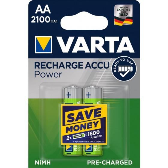 10 x Varta Recharge Accu Power  Akku 56706 AA Mignon HR6 Akku 2100mAh 1,2V