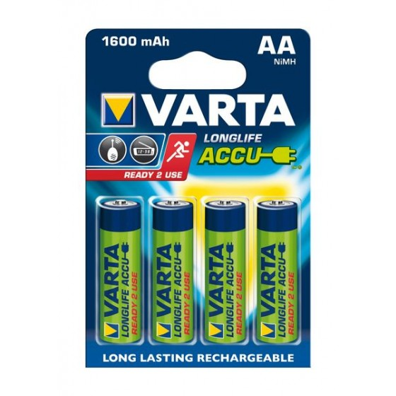 Varta Mignon-Akku 56716 101 404 (1600mAh) 1,2V Ready2use in 4er-Blister