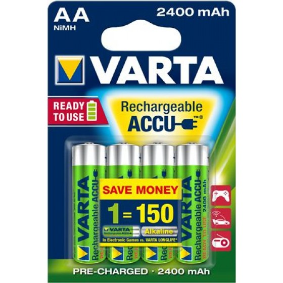 Varta Mignon-Akku 56756 101 404 (2400mAh) 1,2V in 4er-Blister