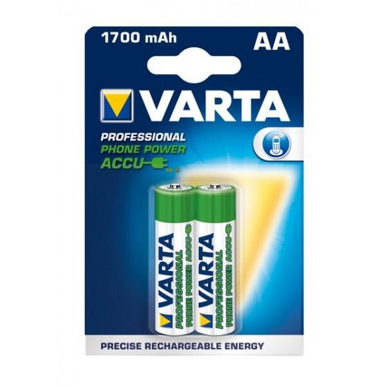 Varta Mignon-Akku T399 58399 201 402 Phone Power 1,2V (1700mAh) in 2er-Blister
