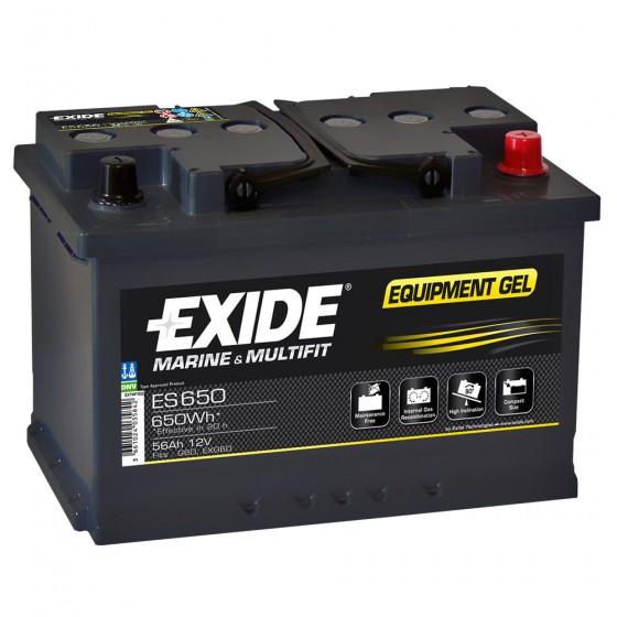 EXIDE ES650 Bleigel-Akku 12V 56Ah