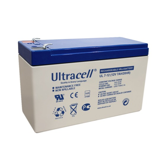 Ultracell UL7-12 Bleiakku 12V 7Ah mit 4,8mm Faston