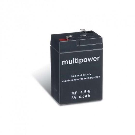 Multipower MP3,3-6 Bleiakku 6V 3,3Ah mit 4,8mm Faston