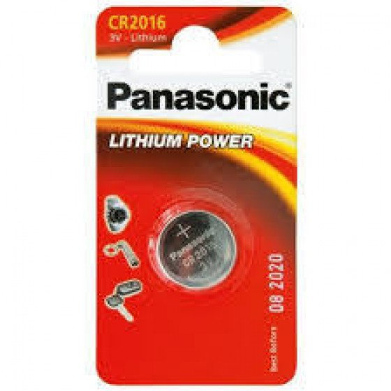 Panasonic CR2016 3V Lithium in 1er-Blister