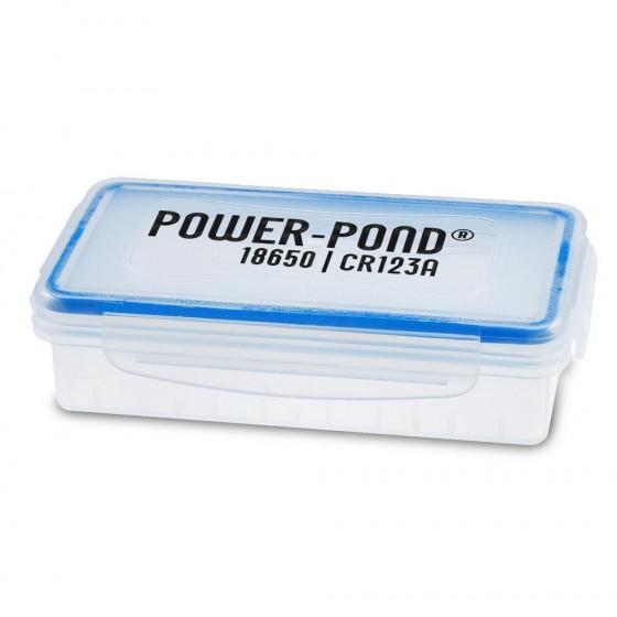 """Akkubox für 2x Li-Ionen Akkus 18650 staubdicht und wetterfest """"Power-Pond"""""""