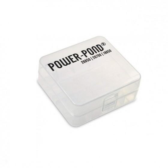 """Aufbewahrungsbox für 2x 26650 21700 20700  Li-Ion Akkus """"Power-Pond"""""""