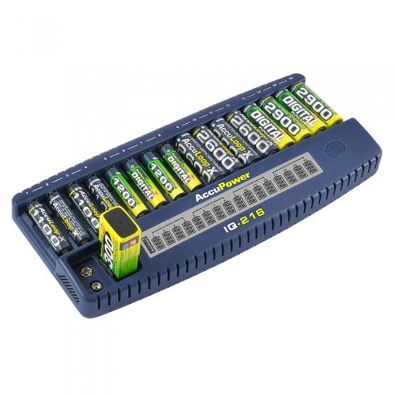 Accu Power IQ216 Intelligentes Ladegerät und Akku Analyzer für Li-Ion/NiCd/NiMH