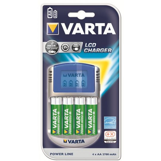 Varta Power Play LCD Charger 57070 201 441 (4x56756)