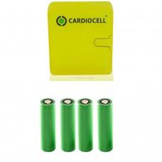 4x Sony US18650V3 3,6V 2250mAh Li-Ion-Akku, 18650 inkl. Cardiocell Box