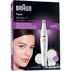 Braun Face Spa 820 Gesichtsepilierer inkl. Reinigungsbürste