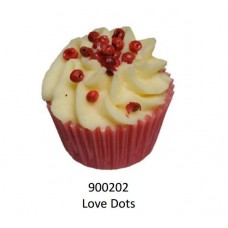 Velvety Bade-Muffin Cupcake Love Dots