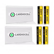 4x iJoy 21700 3,6V - 3,7V 3750 mAh 40A Lithium Ionen Akku inkl. 2x Cardiocell Akkubox