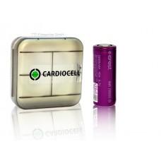 1x EFEST 26650 3,7V, flat 5000mAh 45A inkl Cardiocell Aufbewahrungsbox