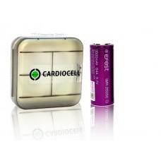 1x EFEST 26650 3,7V, flat 3500mAh 64A inkl. Cardiocell Aufbewahrungsbox