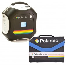 Set Polaroid Portable Power System PS600 + Solar Panel SP100 World Wide Edition
