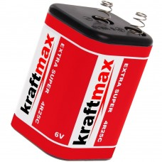 10 x Kraftmax 4R25 Batterie Block - 6V / 9500mAh (9,5 AH) - 6 Volt Hochleistungs-Blockbatterie