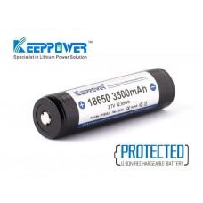 Keeppower 18650 3500mAh 3,6V - 3,7V Li-Ionen Akku geschützt (Pluspol erhöht) NCR18650GA