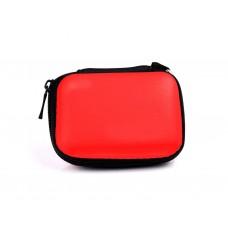 Efest Akku-Aufbwarungstasche 18650 Zipper Case mit Karabinerhaken rot