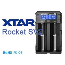 XTAR Rocket SV2 2-Schacht Schnellladegerät für Li-Ion und NIMH Akkus