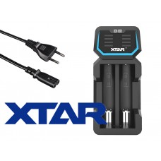 Xtar D2 – Zwei-Schacht Ladegerät für Lithium Ionen Akkus mit integriertem Netzteil