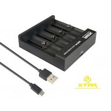 Xtar MC4 – kompaktes Vier-Schacht Li-Ion-Ladegerät
