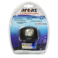 Arcas 5 LED Kopflampe inkl. 3xAAA
