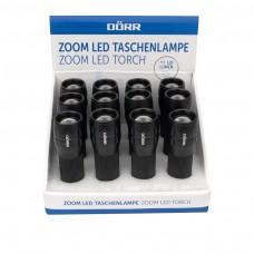 Zoom LED Taschenlampe inkl. 3xAAA einzeln im 12er-Display