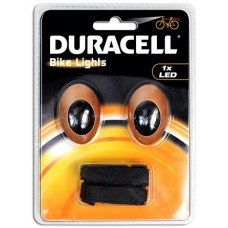 Duracell Bike Lights M01 mit 1 LED inkl. Knopfzellen