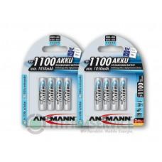 8x Ansmann Micro-Akku 1100mAh in 4er-Blister Nr. 5035232