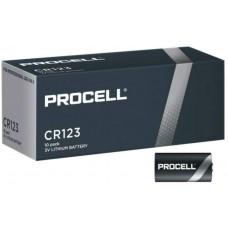 10er Pack bestückt mit Duracell DU HP Lithium CR123 (CR17345) Lager:L001