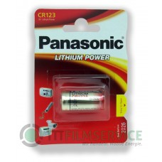 10x Panasonic CR123A 3V Lithium in 1er-Blister