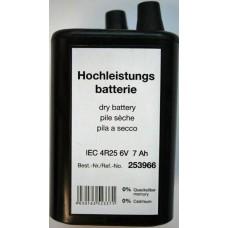 10 x 4R25 6V 7000mAh Blockbatterie Zink Kohle Baustellenleuchte