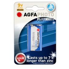AGFAPHOTO Alkaline Platinum 9V E-Block 6LR61 in 1er-Blister