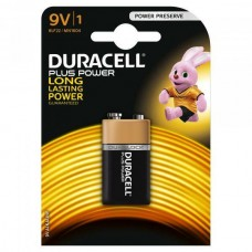 2 x Duracell Plus Power 9V Block MN1604 E-Block 6LR22 Batterie - Blister