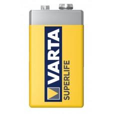 10 x Varta Superlife 9V Block E-Block 2022 6F22 Blister Batterie Zink Kohle