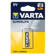 1 x Varta Superlife 9V Block E-Block 2022 6F22 Blister Batterie Zink Kohle