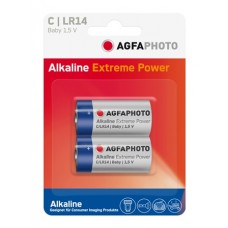 AGFAPHOTO Alkaline Extreme Power Baby LR14 in 2er-Blister