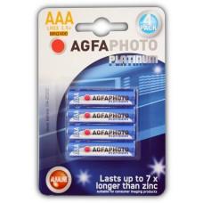 AGFAPHOTO Alkaline PLATINUM Micro AAA LR03 in 4er-Blister