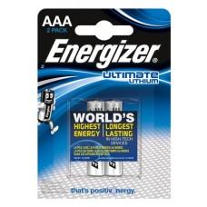 2x Energizer Micro L92 Ultimate Lithium 1,5V im 2er-Blister