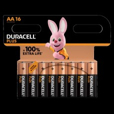 Duracell Mignon MN1500 Plus in 16er-Blister *+100% EXTRA LIFE*