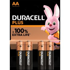 Duracell Mignon MN1500 Plus in 4er-Blister *+100% EXTRA LIFE*