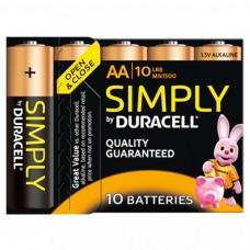 Duracell Mignon MN1500 Simply in 10er-Blister (wiederverschließbar)