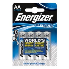 6x Energizer Mignon L91 Ultimate Lithium 1,5V im -Blister AA