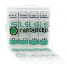 8 x Saft Lithium Batterie AA Mignon LS14500 3,6V 2600mAh 2,6Ah & CardioCell Box
