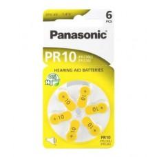 Panasonic PR10 (PR230L, PR536) Hörgeräte-Knopfzellen 100 mAh 1,4V im 6er-Blister