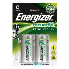 Energizer NiMH Akkumulator Power Plus, Baby (C ) 2500 mAh 2er Blister