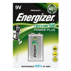 Energizer NiMH Akkumulator Power Plus, E-Block (9V), 175 mAh 1er Blister