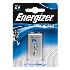 1 x Energizer Ultimate Lithium 9V Block E-Block 6FR22 Batterie - Rauchmelder