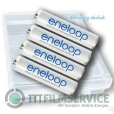 4er-Box bestückt mit Eneloop Micro Akku BK-4MCCE 750mAh