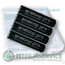 4er-Box bestückt mit Eneloop Micro Akku Pro BK-4HCDE AAA 900mAh